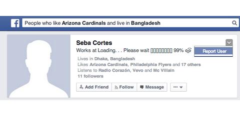 Жалоба на аккаунт в Facebook