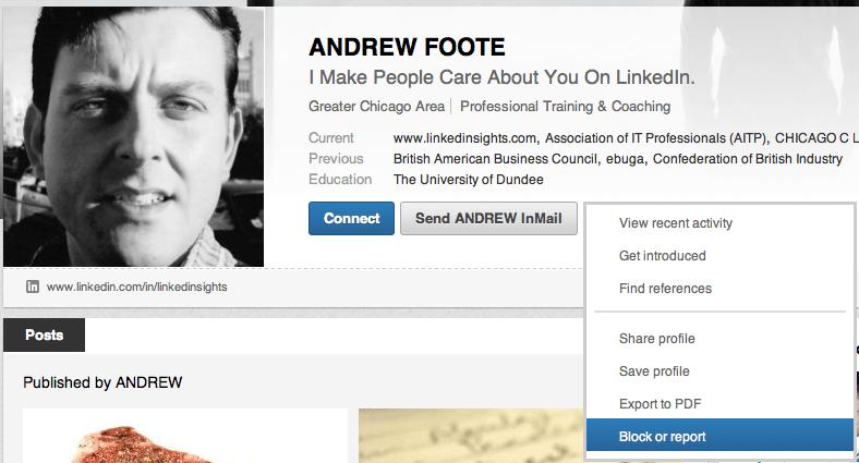 Бан фейкового порфиля в LinkedIn