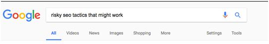 Пример запроса в Google