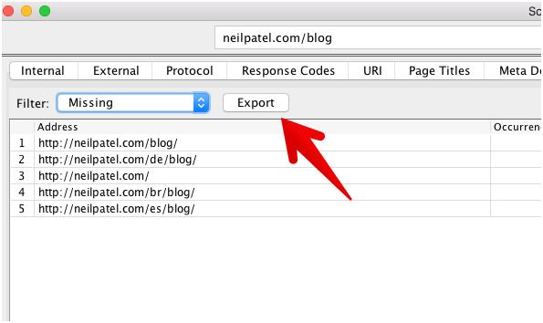 кнопка «Экспортировать» на сайте