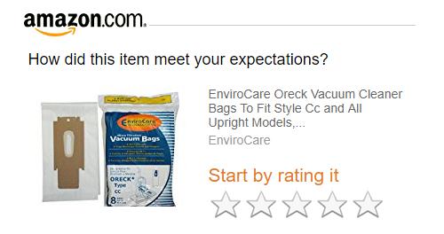 Запрос на отзыв о продукте от Amazon