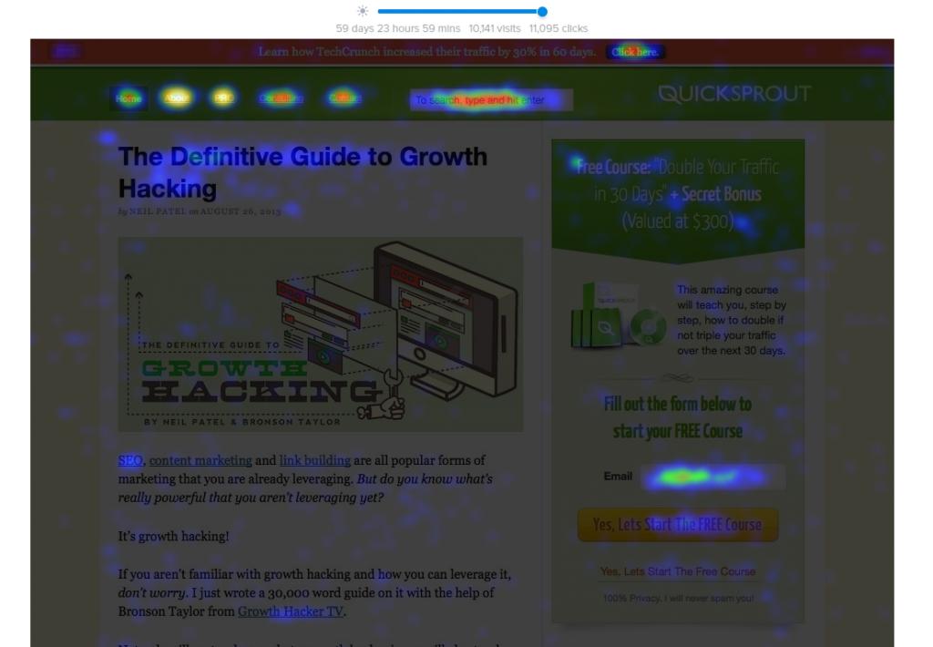 CrazyEgg даст понять, куда смотрят ваши пользователи