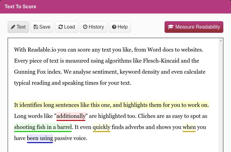 Используйте Readable, чтобы проверить читабельность своего сайта
