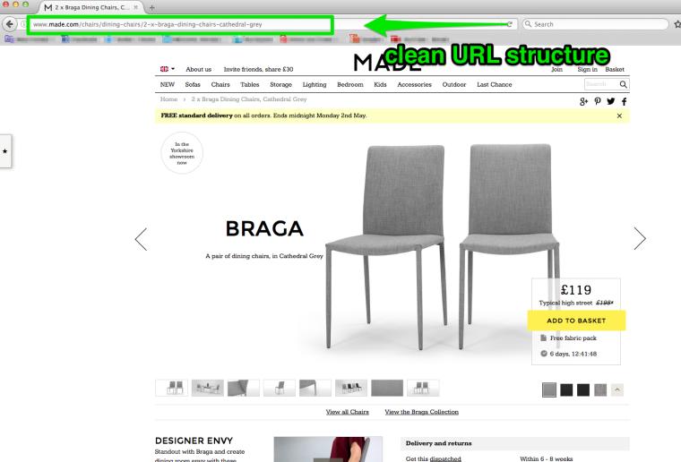 Пример URL-адреса с сайта
