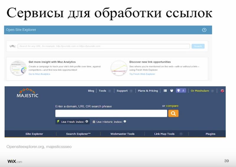 Сервисы для обработки ссылок