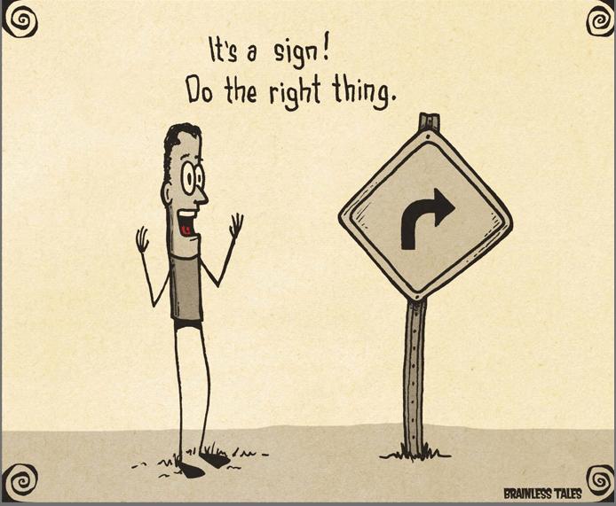 Это знак сделать правильные вещи