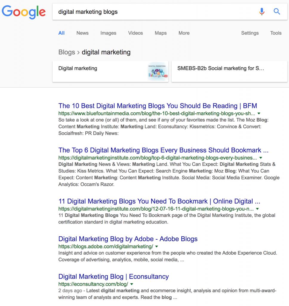 поиск гостевых блогов в Google