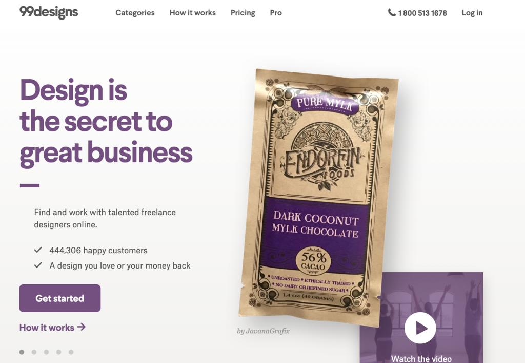 сайт 99designs