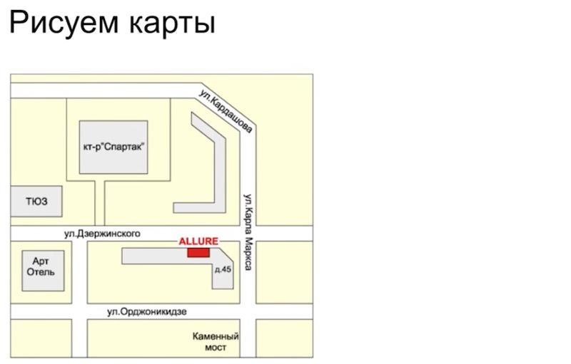 Рисуем карты для сайта