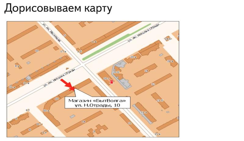 Дорисовываем карту для сайта