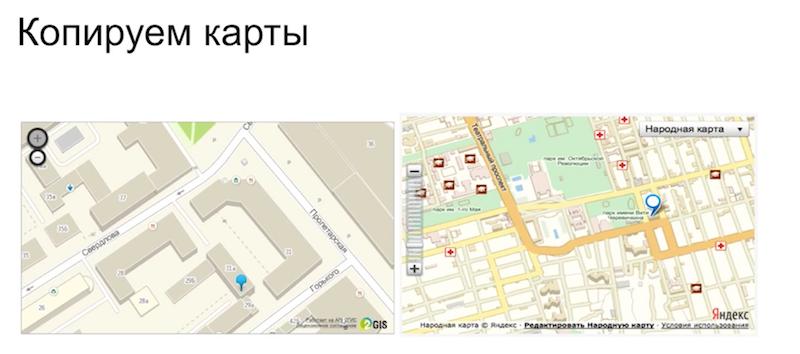 Копируем карты для сайта