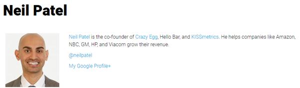 Нил Пател, соучредитель сайта Crazy Egg, часто пишет о компаниях-гигантах, которым помогал