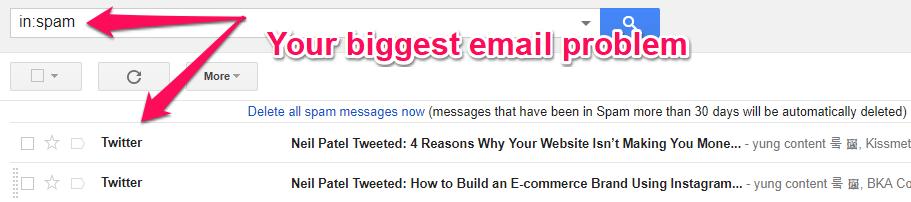 Письма из Twitter попадают в спам